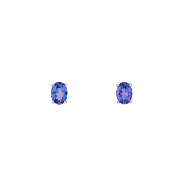 Tanzanite 3.082ct 9kt White Gold Earrings