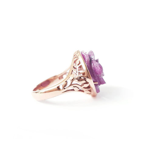 Ruby Rose Gold Ring