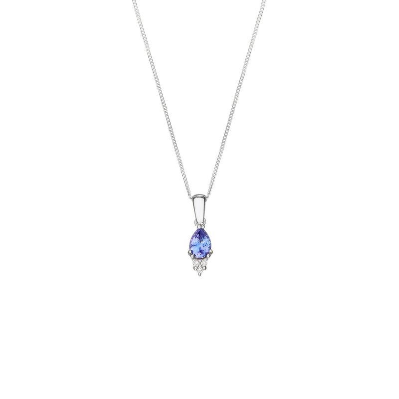 Tanzanite & Diamond White Gold Necklace