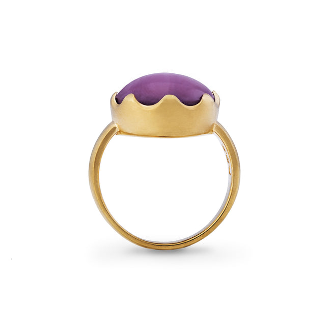 Star Ruby & 18kt Yellow Gold Ring