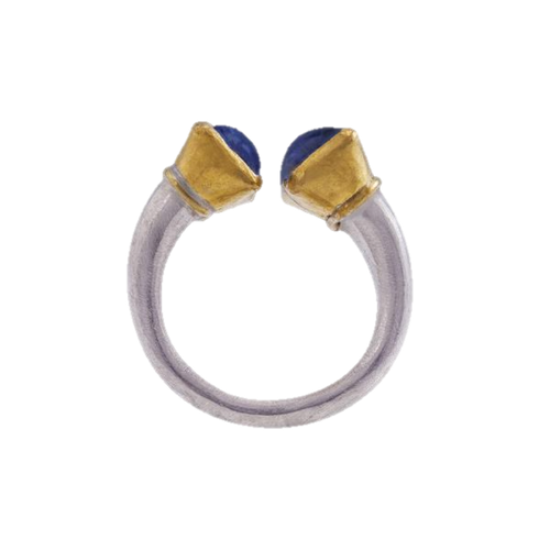 Kyanite Gold & Silver Ring