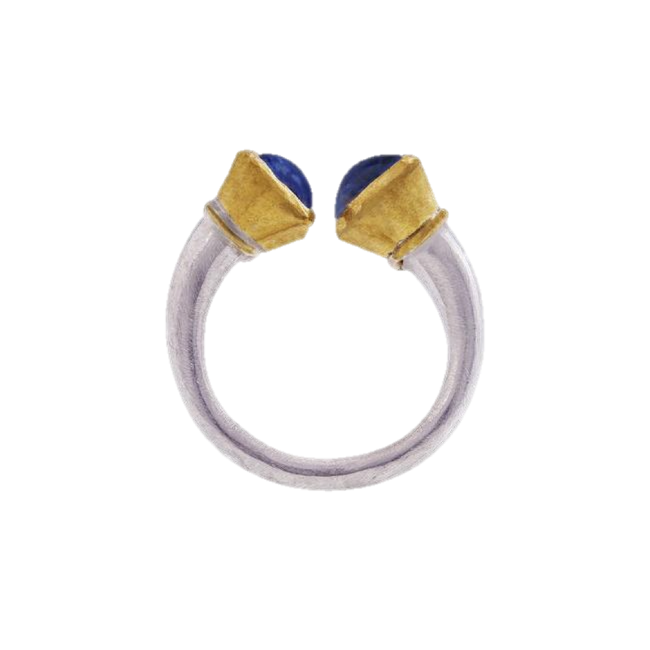 Moonstone Gold & Silver Ring