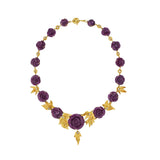Ruby &  Diamond 18kt Yellow Gold Necklace