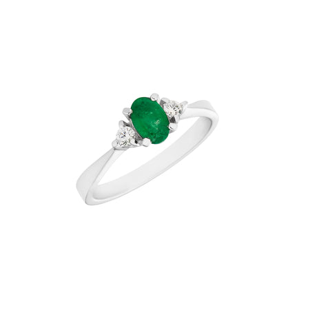 Emerald 0.80ct & 18kt Yellow Gold Ring
