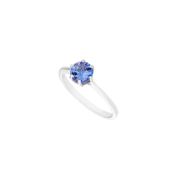 Tanzanite 0.762ct 9kt White Gold Ring