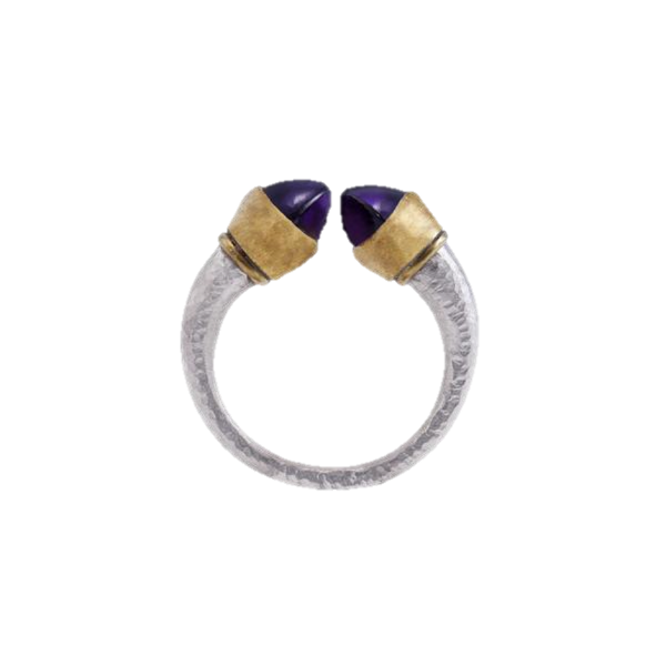 Sugilite 24kt Yellow Gold & Silver Ring