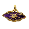 Sugilite & Diamond Gold Pendant