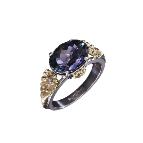 Tanzanite  5.187 Carat & Diamond  Ring