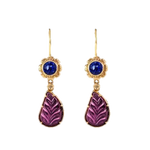 Rubellite Tourmaline & Kyanite Earrings