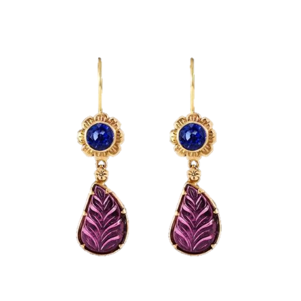 Tourmaline & Kyanite Earrings
