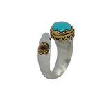 Turquoise & Ruby Ring