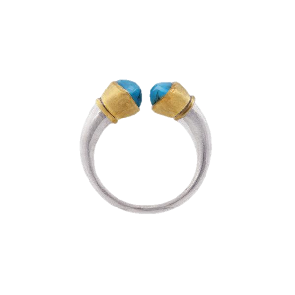 Turquoise Gold & Silver Ring