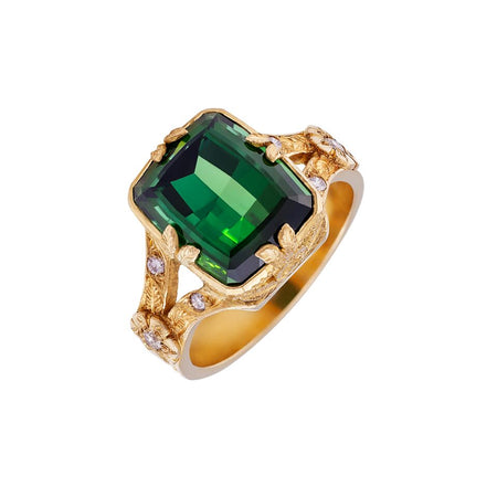 Ruby & Emerald Snake Ring