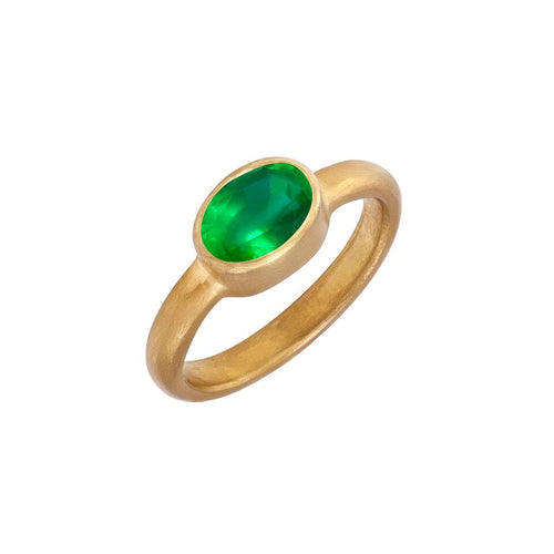 Emerald & 22kt Yellow Gold Ring