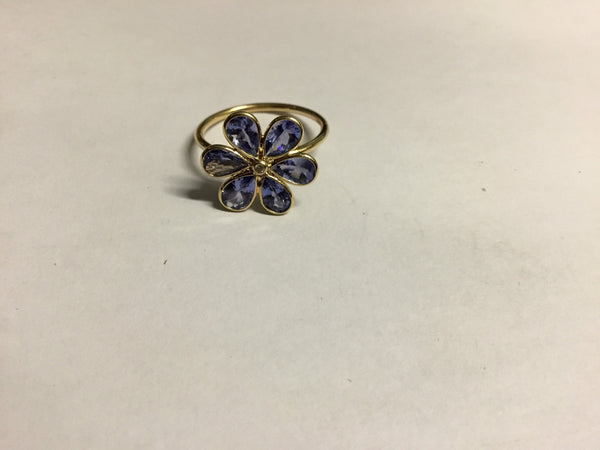 Tanzanite 2.35CT Flower 18KT Ring