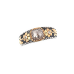 Diamond Silver & Gold Ring
