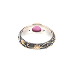 Ruby & Diamond Silver & Gold Ring