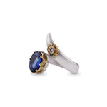Kyanite Wrap Flower  Ring