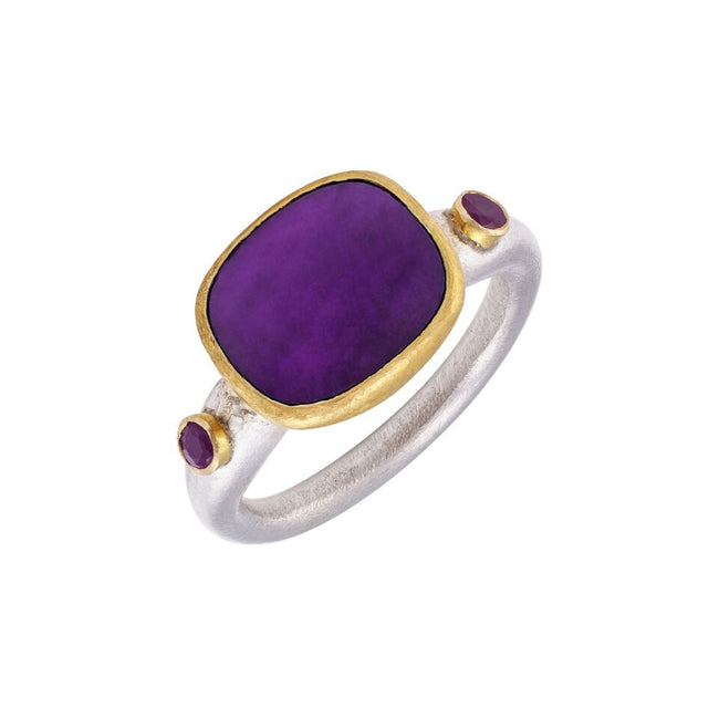 Sugilite Gold & Silver Dress Ring