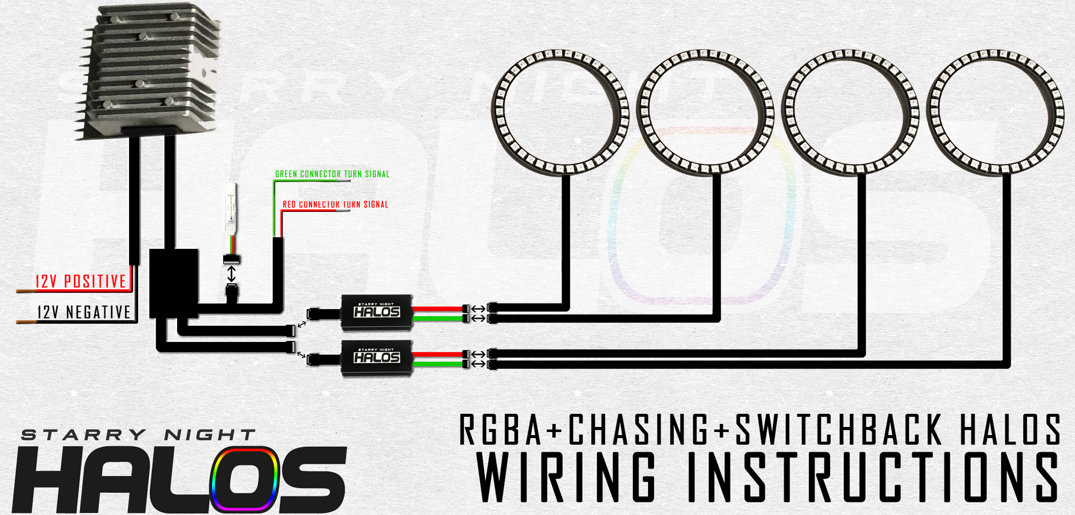 Instructions Starry Night Halos Light Switch Back Wiring Rgba Chasing Switchback Sequential Diagram