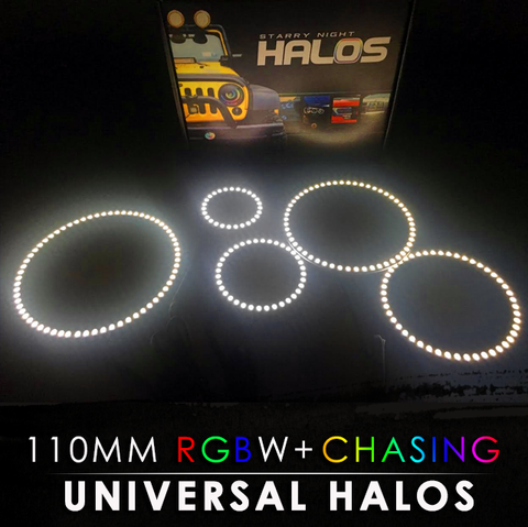 110MM Black PCB RGBW + Chasing Starry Night Halos (Pair)