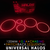 120MM Black PCB RGBA + Chasing + Switchback Sequential Starry Night Halos (Pair)