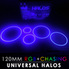 120MM Black PCB RGB Chasing Starry Night Halos