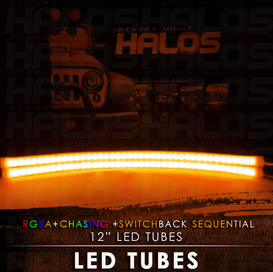 12 Inch Starry Night RGBA Chasing Switchback Sequential LED Tubes