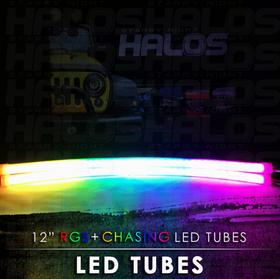 12 Inch Starry Night RGB Chasing LED Tubes