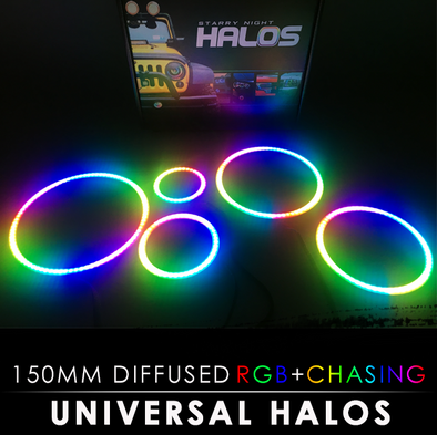 150MM Diffused RGB Chasing Starry Night Halos