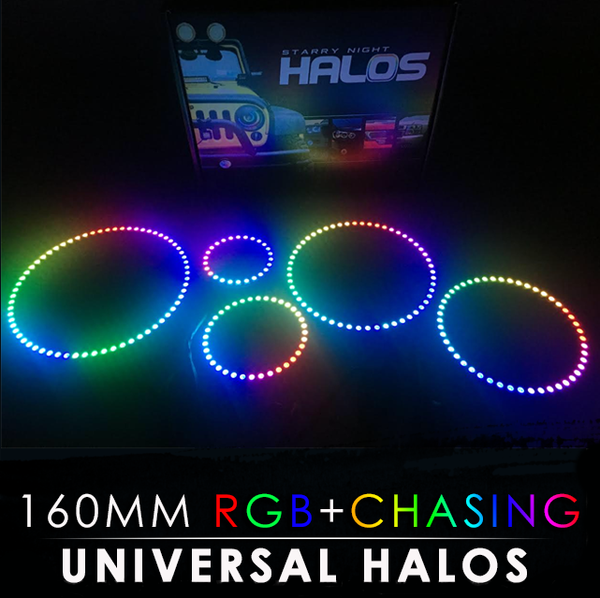 160MM Black PCB RGB + Chasing Starry Night Halos (Pair)