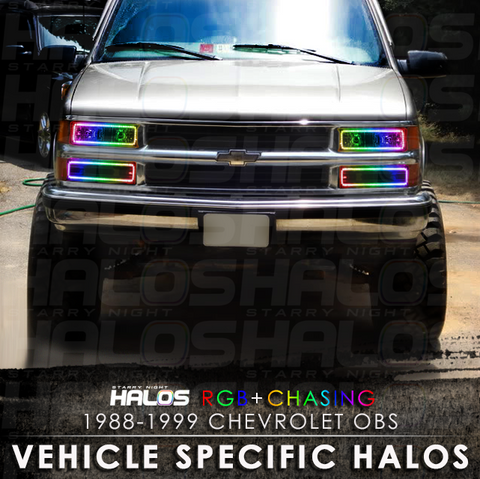 1988-1999 Chevrolet OBS 1500 RGB + Chasing Starry Night Halo Kit (4 Halos)