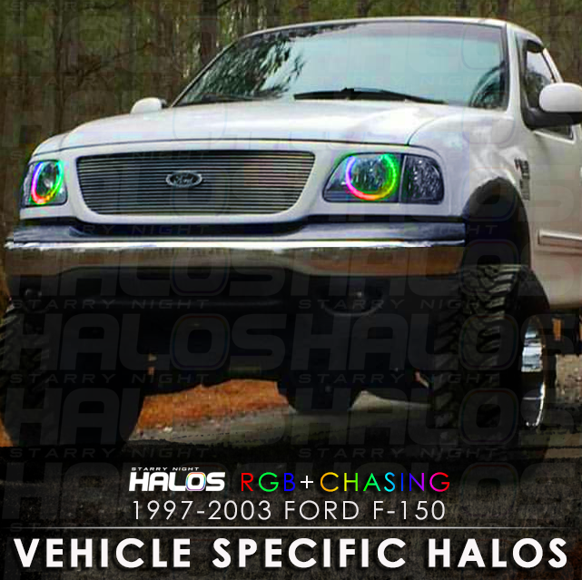 1997 2003 Ford F 150 Rgb Chasing Starry Night Halo Kit 2 Halos