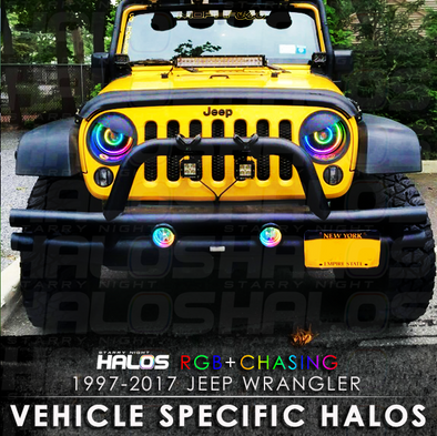 1997-2017 Jeep Wrangler RGB Chasing Starry Night Halo Kit