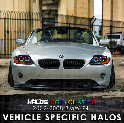 2002-2008 BMW Z4 RGB Chasing Starry Night Halos Kit