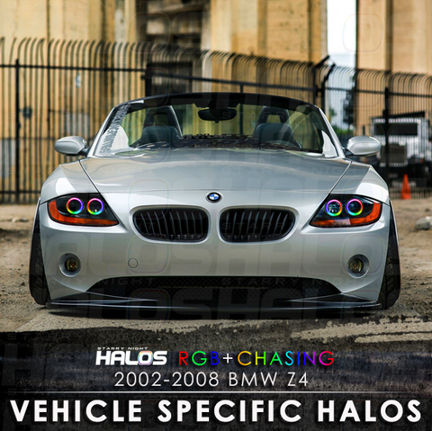 2002-2008 BMW Z4 RGB + Chasing Starry Night Halo Kit (4 Halos)