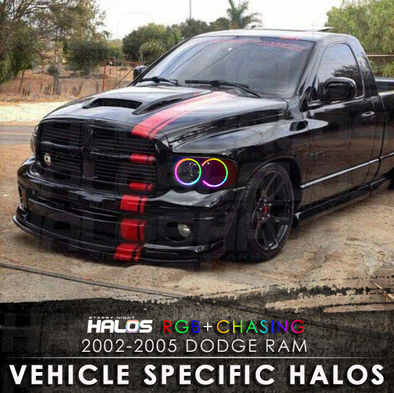 2002-2005 Dodge Ram RGB Chasing Starry Night Halo Kit