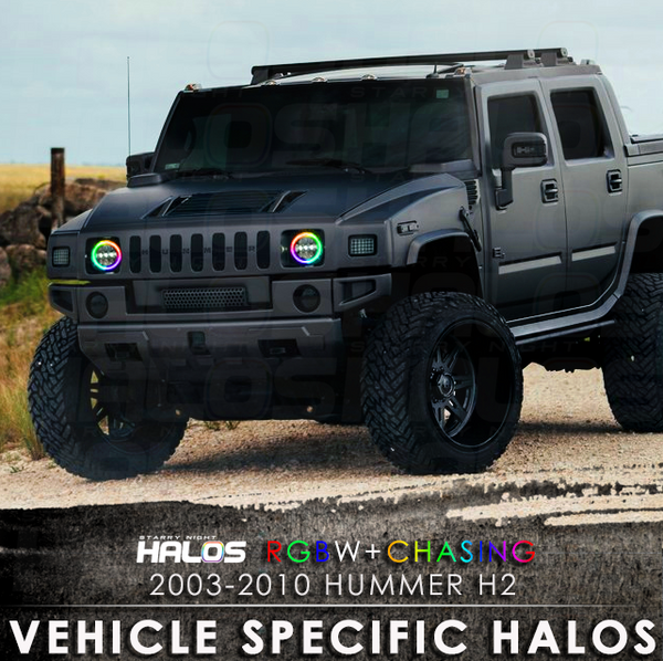 2003-2010 Hummer H2 RGBW + Chasing Starry Night Halo Kit (Pair)