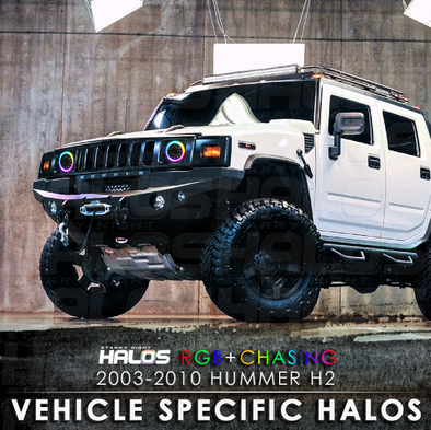 2003-2010 Hummer H2 RGB Chasing Starry Night Halo Kit