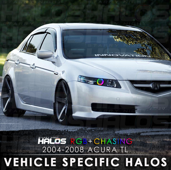2004-2008 Acura TL RGB + Chasing Starry Night Halo Kit (Pair)