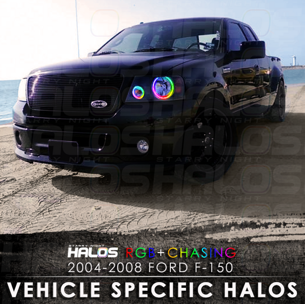 2004-2008 Ford F-150 RGB + Chasing Starry Night Halo Kit (4 Halos)