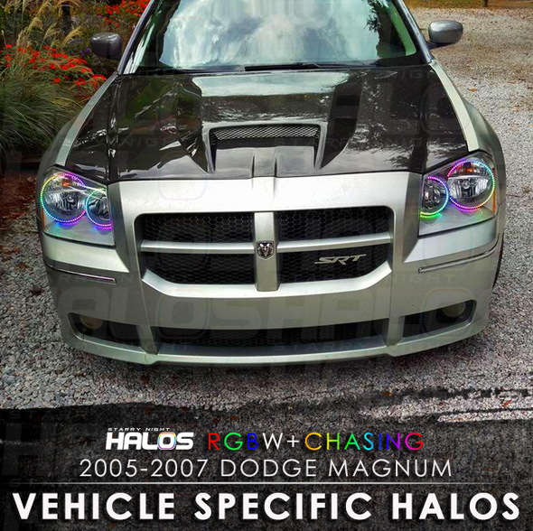 2005-2007 Dodge Magnum RGBW Chasing Starry Night Halo Kit