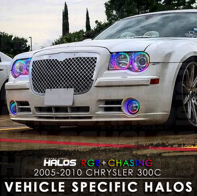 2005-2010 Chrysler 300c RGB Chasing Starry Night Halo Kit