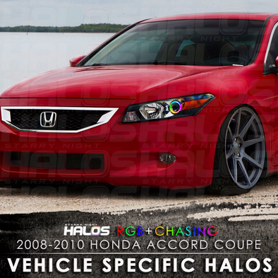 2008-2010 Honda Accord Coupe RGB Chasing Starry Night Halo Kit
