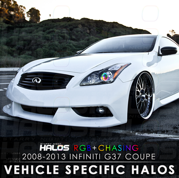2008-2013 Infiniti G37 Coupe RGB + Chasing Starry Night Halo Kit (Pair)'