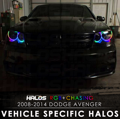 2008-2014 Dodge Avenger RGB Chasing Starry Night Halos
