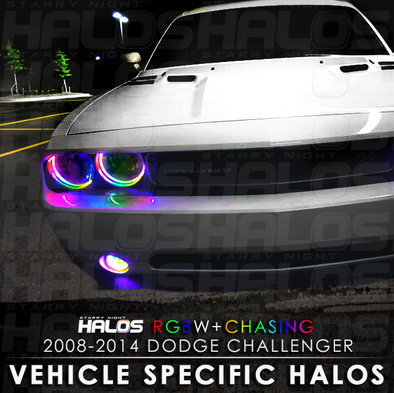 2008-2014 Dodge Challenger RGBW Chasing Starry Night Halo Kit