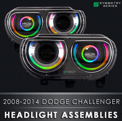 2008-2014 Dodge Challenger  Starry Night Halos Chasing Pre-Built Headlights