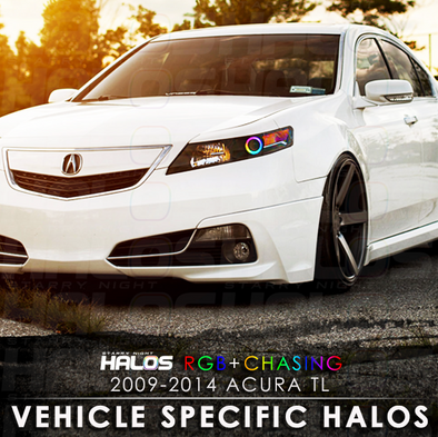 2009-2014 Acura TL RGB Chasing Starry Night Halo Kit