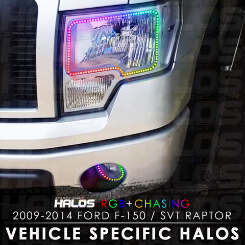 2009-2014 Ford F-150 / SVT Raptor RGB + Chasing Starry Night Halo Kit (Pair)
